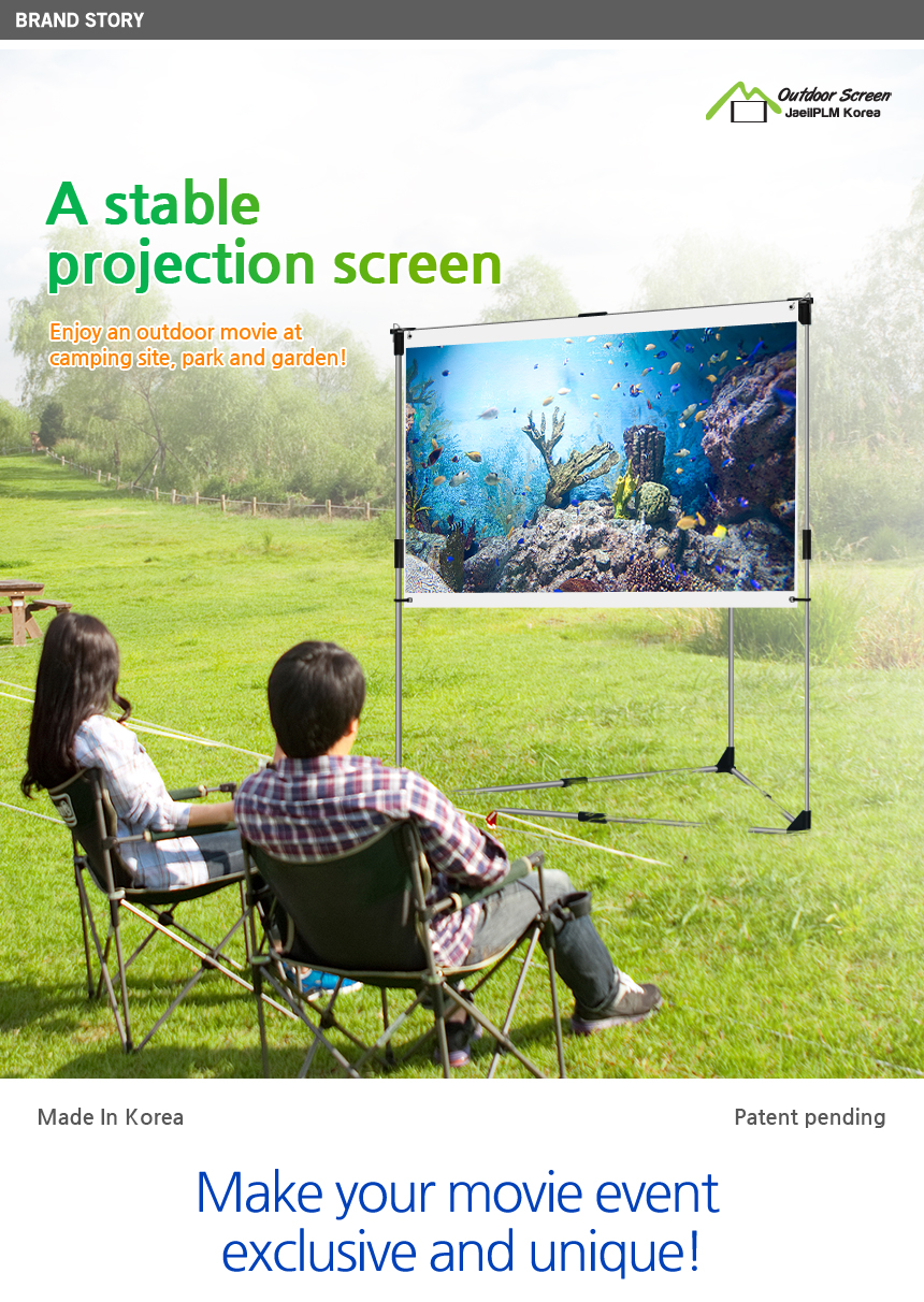 jaeilplm portable outdoor projection screen setup stand